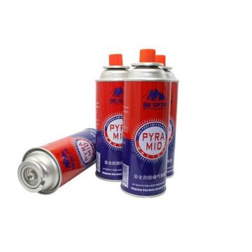 Eco-friendly Disposable Straight Wall Aerosol Tinplate Can camping gas butane canister refill