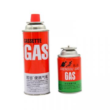 Camping Round Shape butane lighter gas refill and universal butane gas bottle 280g