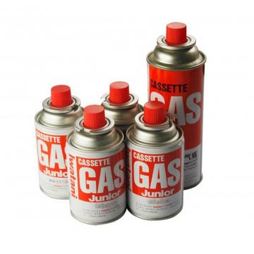 Prime butane gas cartridge and butane gas canister for camping stove
